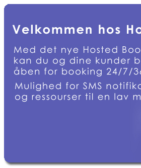 Med det nye Hosted Booking System fra NewAngle Software kan du og dine kunder booker tider/resourser online. Hav åben for booking 24/7, Du sparer tid og administration.